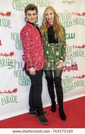 garrett clayton elizabeth stanton attend the 86th annual hollywood christmas parade featuring marine toys for - Clayton Christmas Parade