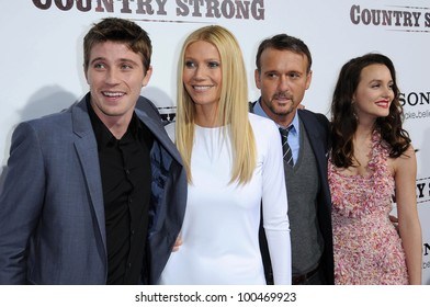"""Garrett Hedlund, Gwyneth Paltrow, Tim McGraw and Leighton Meester  at the """"Country Strong"""" Los Angeles Special Screening, Academy of Motion Picture Arts and Sciences, Beverly Hills, CA. 12-14-10"""