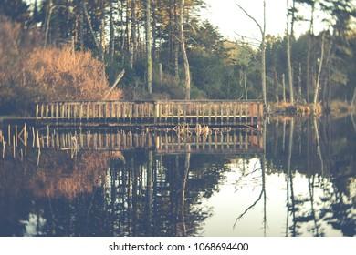 Garrison lake in Port Orford Oregon