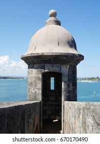 Garritas are the  small enclosures where the Spaniards used to stand guard at the El Morro Fort, Old San Juan, Puerto Rico
