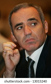 Garry Kasparov, former World Chess Champion, now political activist and radical opponent to Putin's regime, attends an opposition forum in Moscow on September 30, 2007.