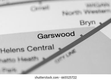Garswood Station. Liverpool Metro map.