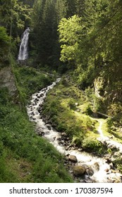 Gartl Wasserfall ,  Grosskirchheim,  mountains by name Alp  at middle Europe in Austria