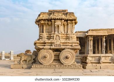 Garuda stone chariot,  Hampi, Karnataka, India