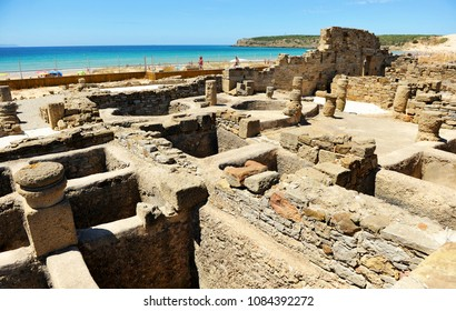 Garum factory, ancient Roman city of Baelo Claudia located on the Bolonia bay, Cadiz province, Andalusia, Spain