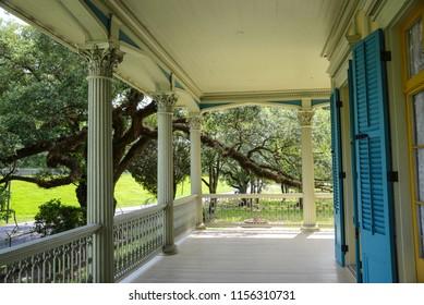 Garyville, Louisiana / USA - June 2, 2018:  The San Francisco Plantation in Garyville, Louisiana.