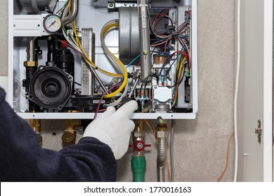 gas boiler repair service, preparation for heating.