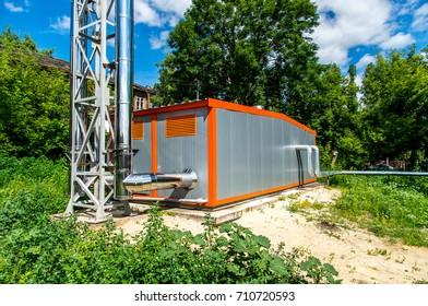 gas boiler room outside