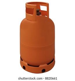 Gas bottle, isolated on white background