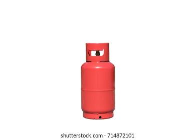 Gas bottle on isolated white background.