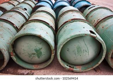 Gas Bottles Industrial Size