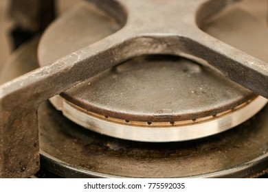 Gas burner close up