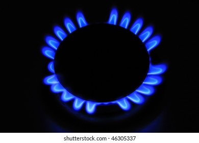 The Gas Burner on the black Background