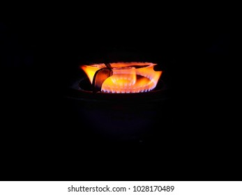 Gas burners in the stive gas