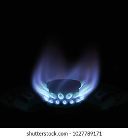 Gas Burning Flames