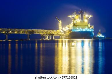 Gas carrier, Sakhalin island, Russia.