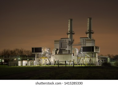 Gas compressor station as part of a chemical plant in Rheinberg, Germany.