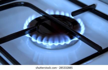 Gas cooker, gas burning