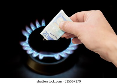 Gas cooker and money