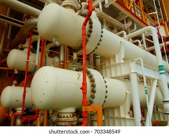Gas cooler at oil and gas central processing platform, Heat exchanger shell and tube type to cooling hot gas by heat transfer wit cooling water.