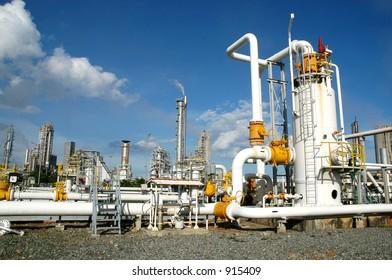 Gas distribution center in bontang, kalimantan, Indonesia