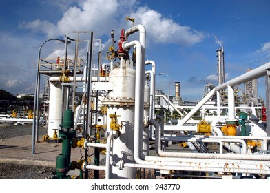 Gas distribution center in Bontang, Kalimantan, Indonesia, Asia