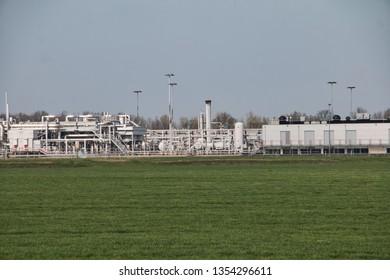 Gas drilling installation in Groningen, The Netherlands
