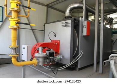 The gas equipment of the boiler in modern boiler-house