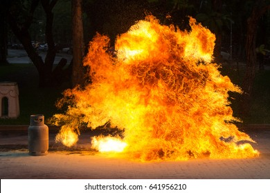 Gas Flame and Explosive from Gas Tank