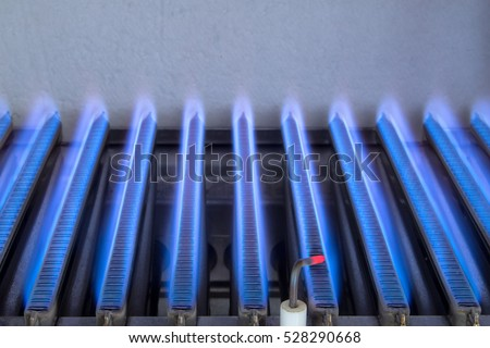 Gas Flame Inside Gas Boiler Stock Photo (Edit Now) 528290668 ...