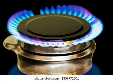 gas flames of butane cooker
