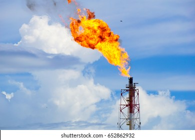 A gas flare at an oil refinery in the Kimanis,Sabah,Malaysia.Around 3.5% of the world's natural-gas supply was wastefully burned or flared,at oil & gas fields in 2012,according to the satellite data.