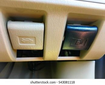 Gas Fuel Tank Door & Trunk Release Open Button Switch in car