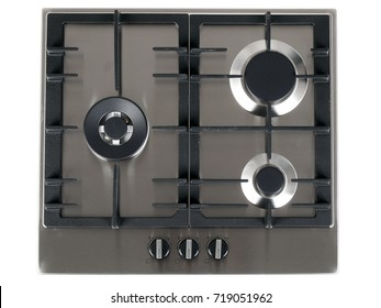 gas hob on white background.