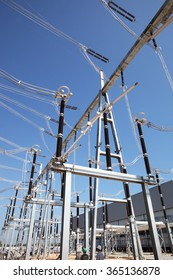 Gas insulated switchgear and its outdoor electrical equipment under-construction.