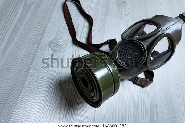 gas mask against viruses