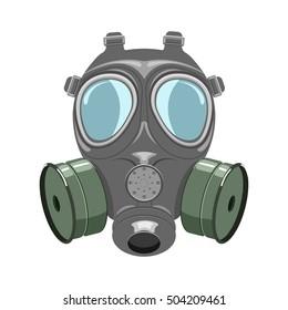 Gas mask illustration isoladed on white background
