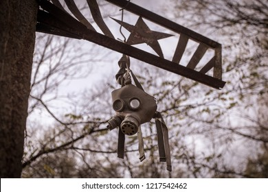 Gas mask of the liquidator of the disaster at the Chernobyl nuclear power plant