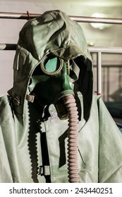 gas mask and protective suit