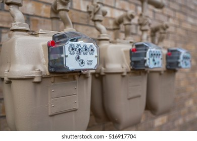 Gas Meter Close Up