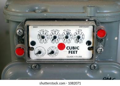 Gas meter closeup