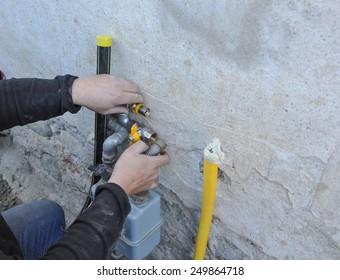 Gas meter flow meter to measure the volume of fuel gases