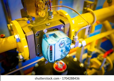 Gas meter. Gasification of the enterprise. Measuring the amount of gas used. Meter is installed on gas pipes. Gasification of private house. Homemade boiler. Engineering communications installation