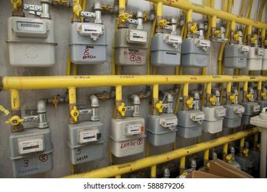 Gas gas meter - increase in gas bill costs money - euro