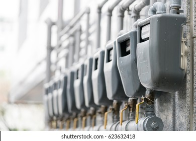 Gas meter on apartment