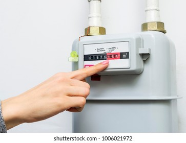 Gas meter. Selective focus.