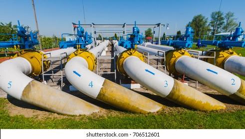 """A gas metering station """"Uzhgorod"""" is seen near the Chaslivci village, not far from western Ukrainian city of Uzhgorod, Transcarpathian region on May 21, 2014."""