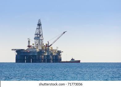 Gas and oil rig platform