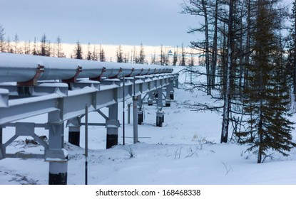 gas pipeline in the area of ??the polar latitudes