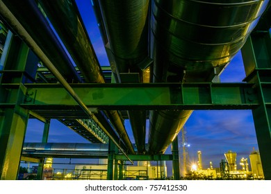 Gas pipeline in industrial plant with Twilight